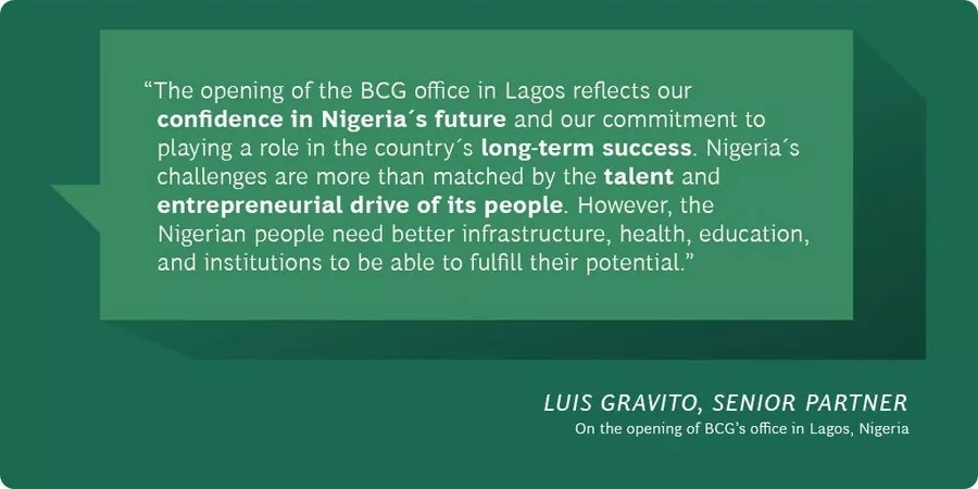 Boston Consulting Group opens office in Lagos, 4th in Africa