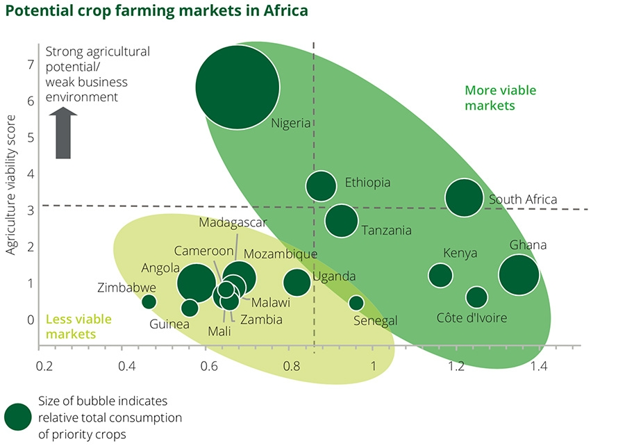 Potential crop farming markets in Africa