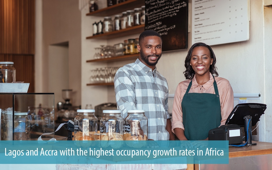 Lagos and Accra with the highest occupancy growth rates in Africa