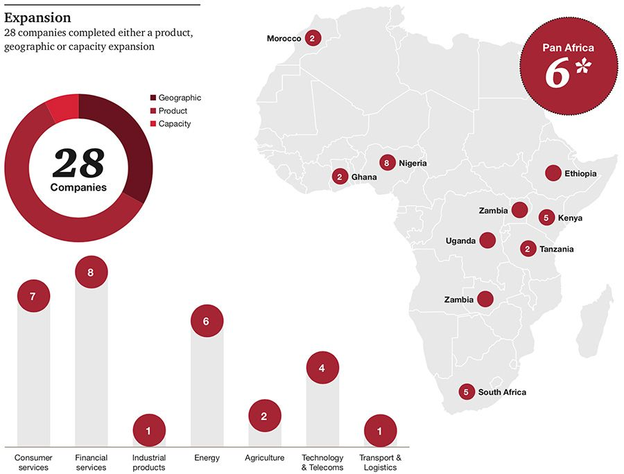 Organic expansion of top African companies
