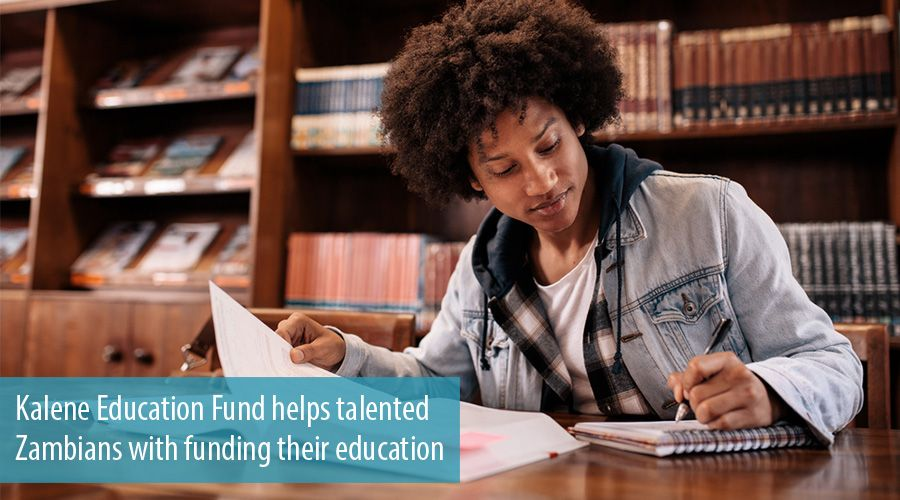Kalene Education Fund helps talented Zambians with funding their education