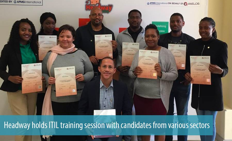 Headway holds ITIL training session with candidates from various sectors