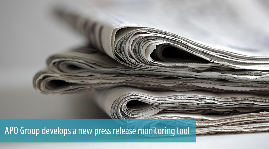 APO Group develops a new press release monitoring tool