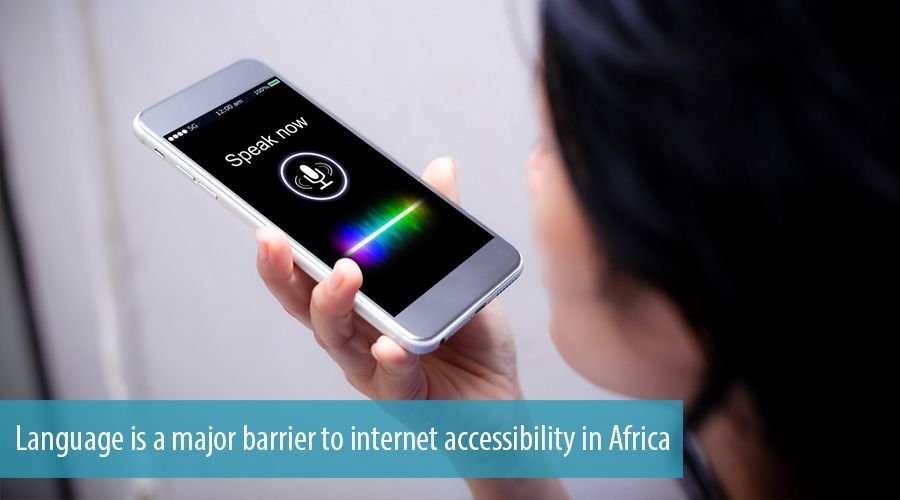Language is a major barrier to internet accessibility in Africa
