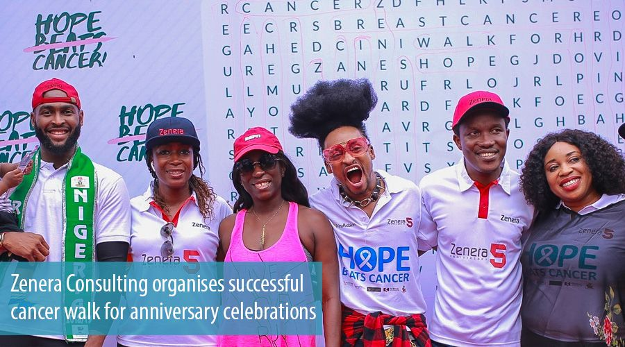 Zenera Consulting organises successful cancer walk for anniversary celebrations