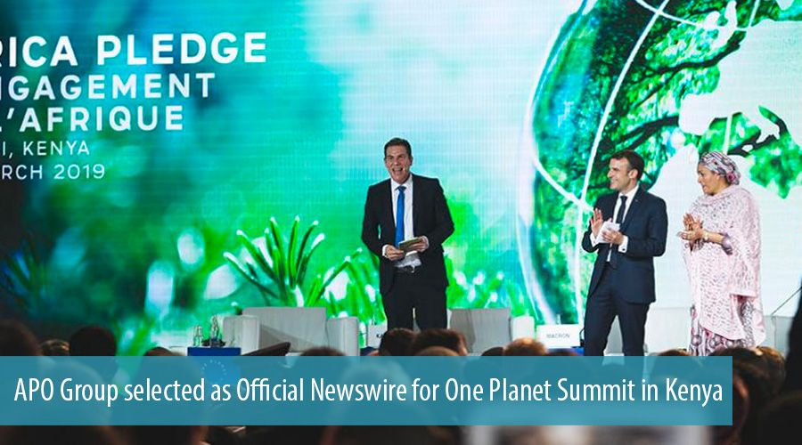 APO Group selected as Official Newswire for One Planet Summit in Kenya