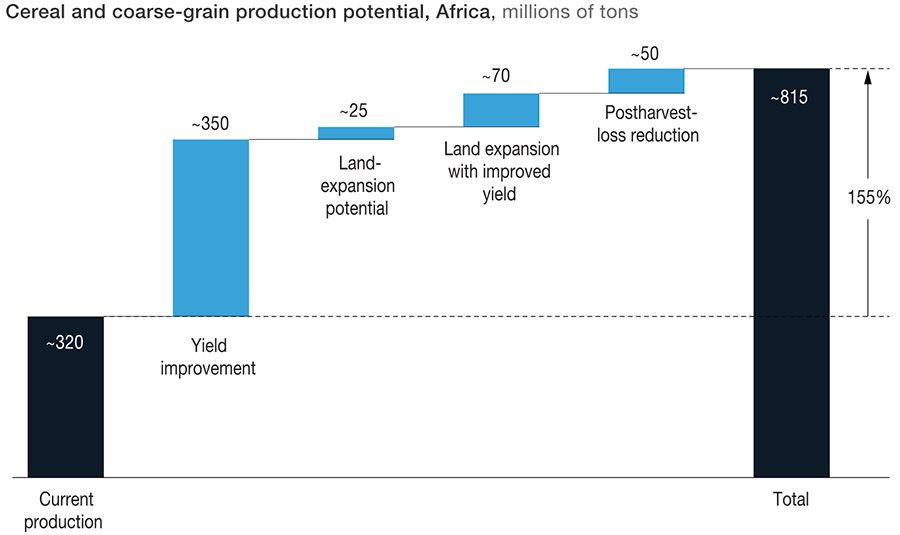 Coarse grain production in Africa