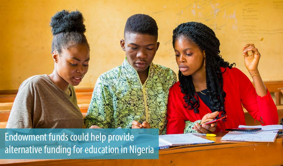 Endowment funds could help provide alternative funding for education in Nigeria